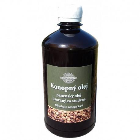 Konopný olej lisovaný za studena 1000 ml