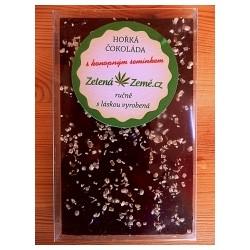 Hořká čokoláda s konopným semínkem 100g BEZ CUKRU
