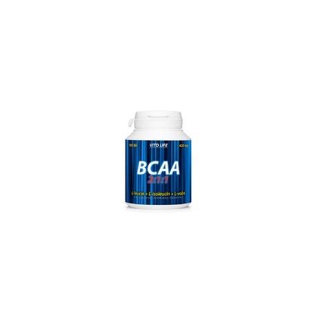 BCAA 2:1:1 (L-leucin + L-isoleucin + L-valin) 100 tbl.