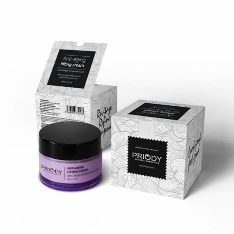 PRIODY - Liftingový krém proti vráskám s kolagenem a kyselinou hyaluronovou