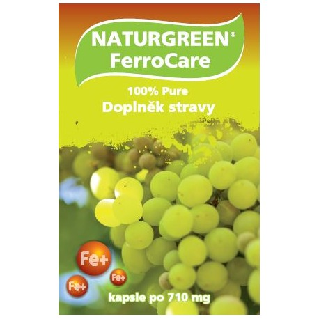 Naturgreen® FerroCare železo - 60 vegan kapslí