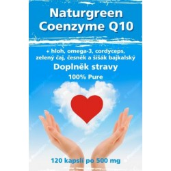 Coenzyme Q10 + hloh, omega-3, cordyceps, zelený čaj, česnek a šíšák bajkalský