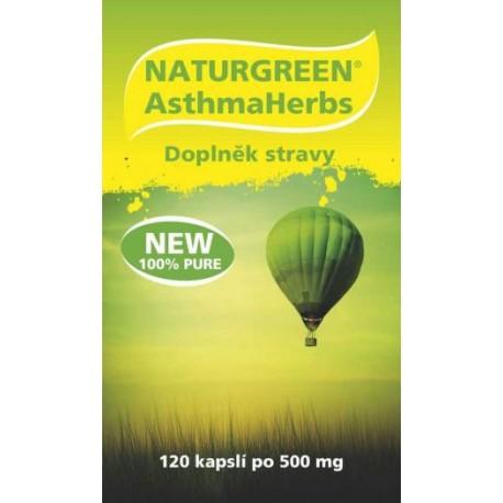 Naturgreen®AsthmaHerbs 120 veganských kaps.