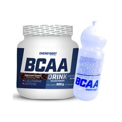 EnergyBody BCAA Drink 500g + sportovní lahev ZDARMA Příchuť: Americká káva