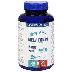 MELATONIN 5MG FORTE 80+20 TBL. ZDARMA