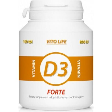 VITO LIFE - Vitamín D3 Forte (800 I.U.) 100 tbl