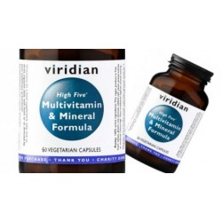 Viridian High Five Multivitamin & Mineral Formula 60 kapslí