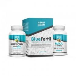 Balíček pro podporu plodnosti muže - vitamíny, minerály a antioxidanty pro vylepšení spermiogramu. BlueFertil + MACA + Kotvičník