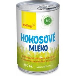 Kokosové mléko Wolfberry BIO 400 ml
