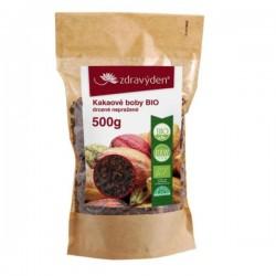 Zdravý den Kakaové boby Bio drcené nepražené 500 g