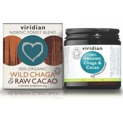 Viridian Wild Chaga & Raw Cacao 30g Organic