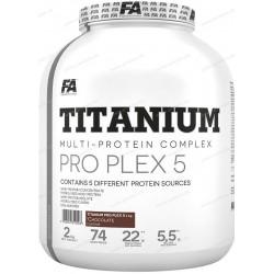 Fitness Authority Titanium Pro Plex 5 2000 g chocolate + shaker