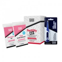 Kiwu Wuki Ovulační balíček pro ženy - Test ženské plodnosti 2ks, Digitální bazální teploměr, Ovulační test LH 5ks
