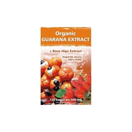 Naturgreen Guarana + Rose hips extract 120 veganských tbl.