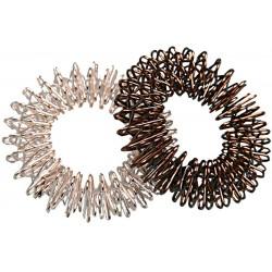 SU JOK Masážní prstýnek - stříbrný, průměr 27mm