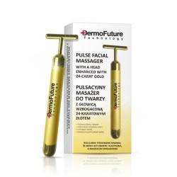 DermoFuture Pulzní masážní přístroj na obličej z 24k zlata