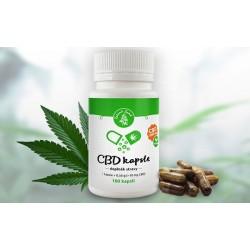 Zelená Země CBD CBD kapsle -100 ks (*1000 mg CBD) 1000 kapslí