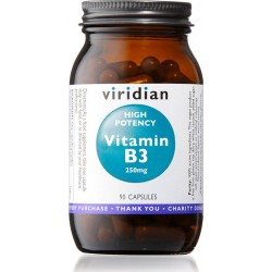 Viridian High Potency Vitamin B3 250mg 90 kapslí
