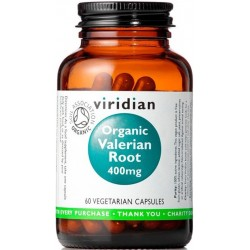 Viridian Organic Valerian Root 400mg 60 kapslí