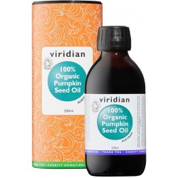 Viridian Pumpkin Seed Oil 200ml Organic (Olej z dýňových semínek Bio)