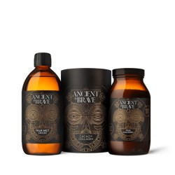 Anciene+brave Balíček 1 (Cacao + Collagen 250g, True MCT 500ml, True Collagen 200g)