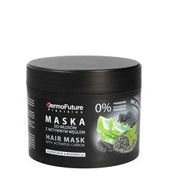 DermoFuture vlasová maska s aktivním uhlím 300 ml