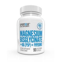 Sportique MAGNESIUM BISGLYCINATE + B6 + PIPERINE 400mg