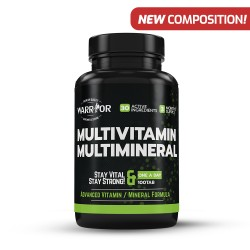 Warrior Multivitamin Multiminerál tablety 100 kapslí