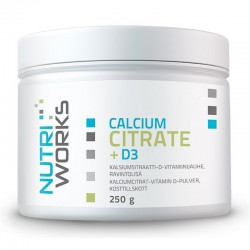 Nutri Works Calcium Citrate + D3 250g