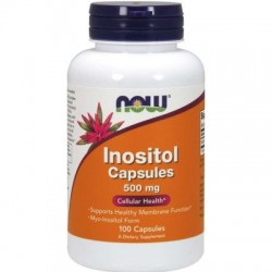 NOW Inositol (myo-inositol), 500 mg, 100 kapslí