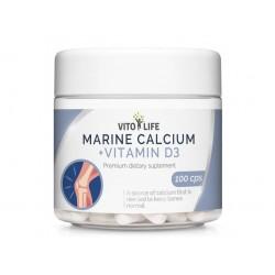 VITO LIFE - Mořský vápník 189 mg + Vitamín D3 400 IU, 100 tobolek
