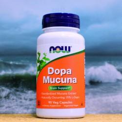 NOW DOPA Mucuna, 90 rostlinných kapslí