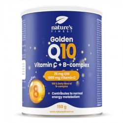 Nutrisslim Golden Q10 + Vitamin C + B-Complex 150g (Koenzym Q10 + Vitamín C + B-komplex)