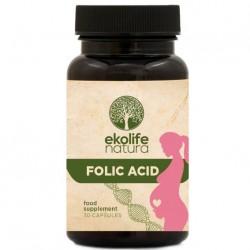 Ekolife Natura Folic Acid 30 kapslí (Kyselina listová)