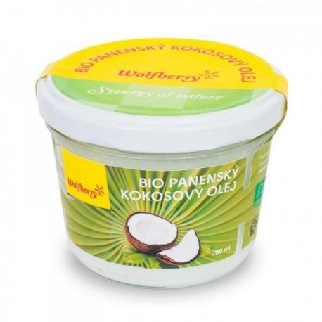 Panenský kokosový olej Wolfberry BIO 200 ml